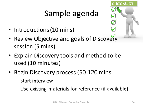 Process Capture Sample Agenda